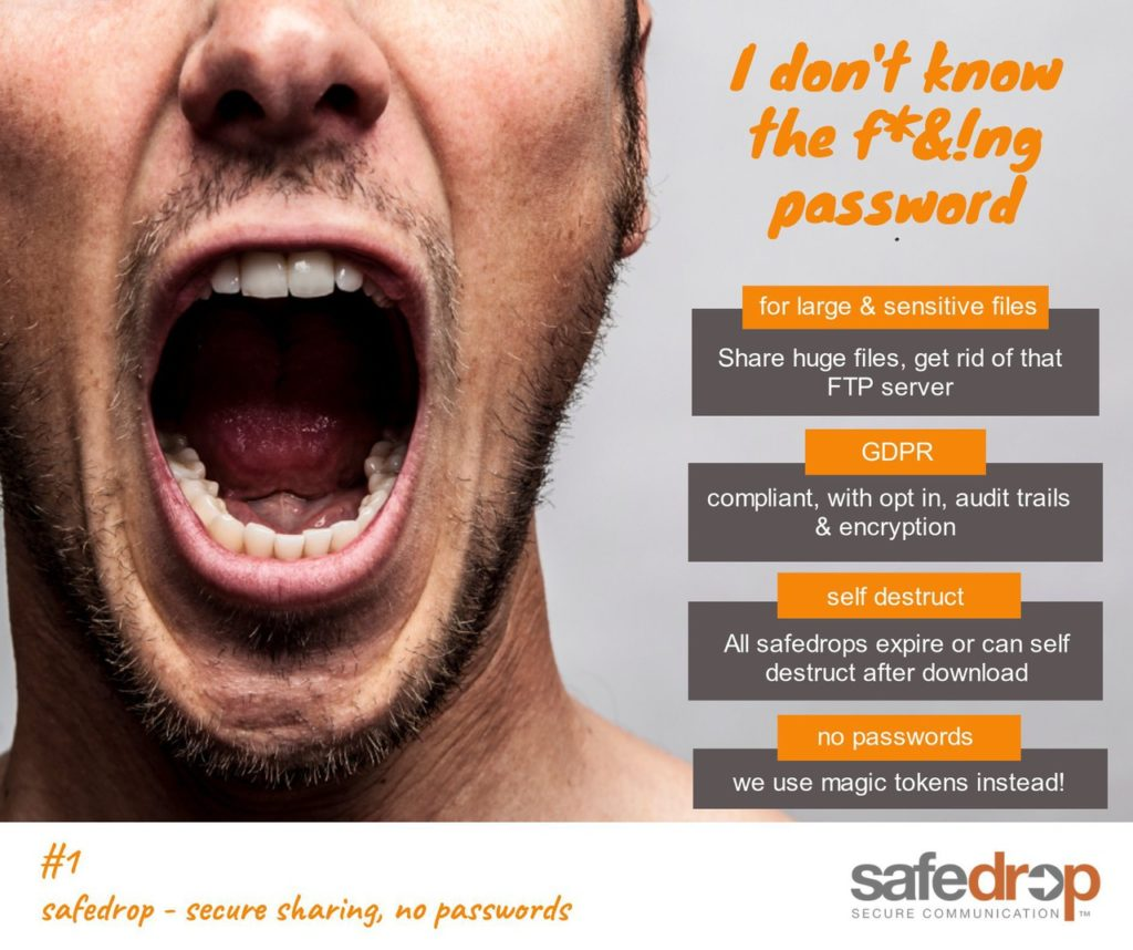 safedrop - no passwords